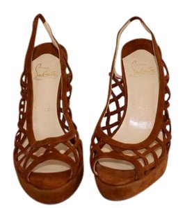Christian Louboutin Suede Leather Stilletos brown Sandals