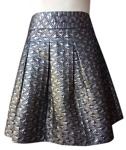 Banana Republic Chic Mini Formal Mini Skirt Silver