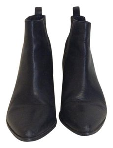 Dune London Leather Pointed Toe Black Boots