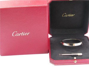 Cartier Cartier 18Kt Love Bracelet Rose Gold Size 16 TA4218 NEW SCREW SYSTEM