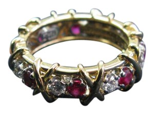 Tiffany & Co. Tiffany & Co Jean Schlumberger 16 Stone Ruby Diamond Ring Size 6