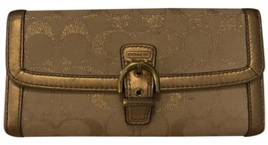 Coach Coach beige and gold wallet