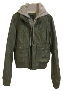 OBEY Hooded Olive and Grey Jacket