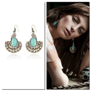 Samantha Wills Samantha Wills Back to the Garden Earrings Bohemian Turquoise Peacock