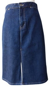 Gap Denim Stretch Denim Skirt Dark wash blue