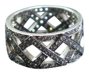 Tiffany & Co. Tiffany & Co Platinum Braided Diamond WIDE Band Ring 8.5mm 1.25Ct Sz 5