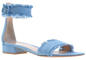 Gianvito Rossi Denim Lola 20 Sold Out Heels Blue Sandals