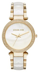 Michael Kors Parker Gold-Tone and Acetate Watch MK6400