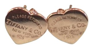 Tiffany & Co. Return to Tiffany Silver Medium Heart Tag Earrings