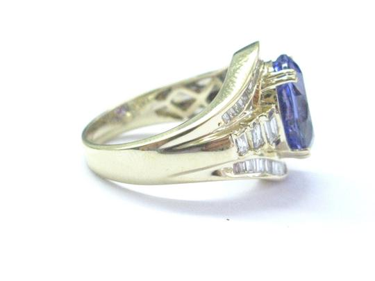 Other 18Kt Gem Tanzanite Diamond Yellow Gold Jewelry Ring 6.93Ct Image 1