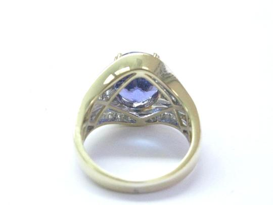 Other 18Kt Gem Tanzanite Diamond Yellow Gold Jewelry Ring 6.93Ct Image 2