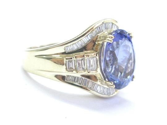 Other 18Kt Gem Tanzanite Diamond Yellow Gold Jewelry Ring 6.93Ct Image 5