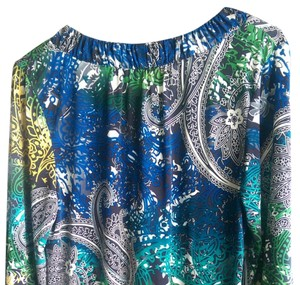 Style & Co Top Blue, Green, black