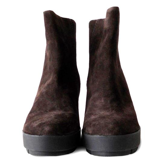 Prada Ankle Suede Wedge Brown Boots Image 1