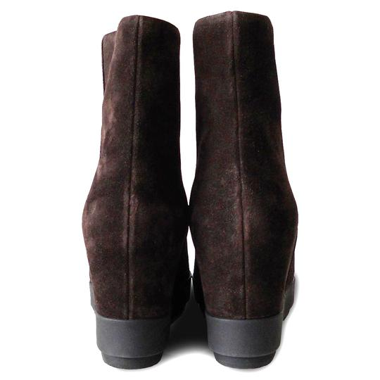 Prada Ankle Suede Wedge Brown Boots Image 5