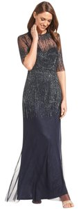 Adrianna Papell Beaded Illusion Gown Dress