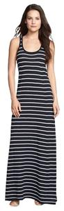 Navy. White Maxi Dress by Vince