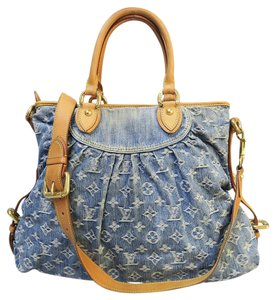 Louis Vuitton Lv Denim Gm Satchel in steelblue