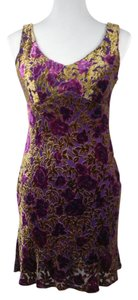 Nanette Lepore A-line Sleeveless Date Night V-neck Floral Dress