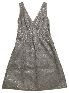 The Limited Taupe Lace Silver Dress