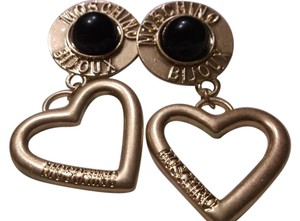 Moschino VINTAGE MOSCHINO BIJOUX, Gold Hearts And Onyx