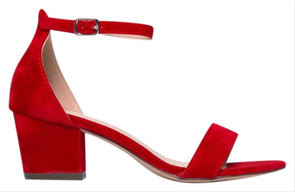 4df3d8bfcdf ... 12 Red Satin Mini Concealed Platform Sexy Mid Heel T-Bar Court Shoe  with Ankle Strap and Bow. J. Adams Red Daisy Mid Heel Sandals