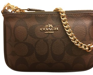 Coach Wristlet in Brown/ Black