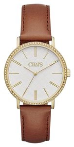 Chaps Chaps Women's Whitney Light Brown Leather Three-Hand Watch CHP1001