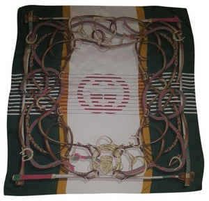 Gucci Gucci Women's Silk Equestrian Horsebit Ribbon GG Neck Scarf
