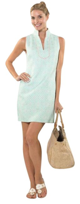 Sail to Sable Green Tunic Short Cocktail Dress Size 2 (XS) Sail to Sable Green Tunic Short Cocktail Dress Size 2 (XS) Image 1