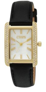 Chaps Chaps Women's Reece Black Leather Three-Hand Watch CHP1020