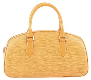 Louis Vuitton Leather Satchel in Yellow