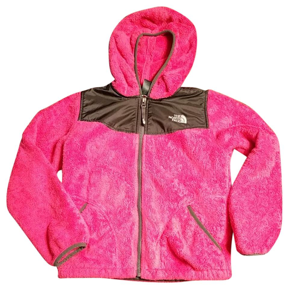 2c019894e The North Face Pink and Black Children's Fuzzy Jacket Size 10 (M) 80% off  retail