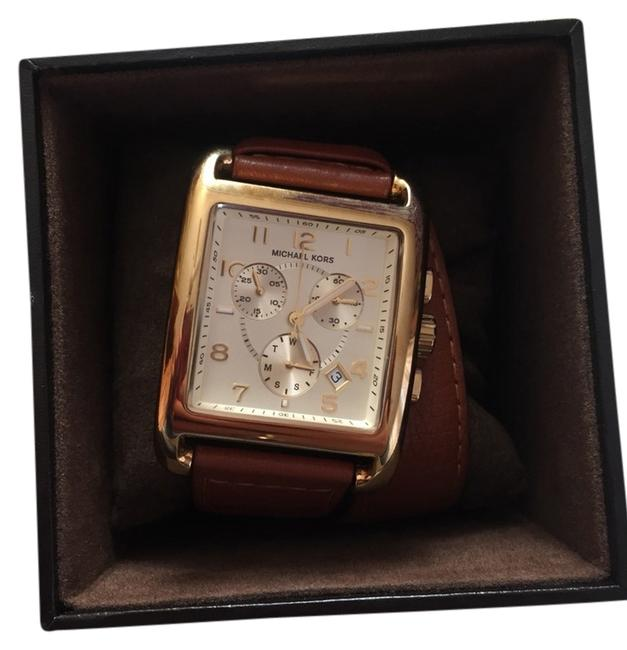 Item - Tan Leather Band Square Head Watch