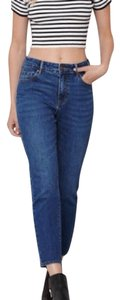 PacSun Mom Mom High Rise Boyfriend Cut Jeans-Dark Rinse