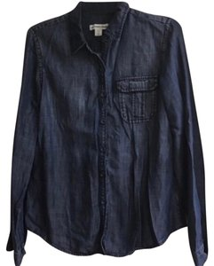 Coldwater Creek Button Down Shirt blue