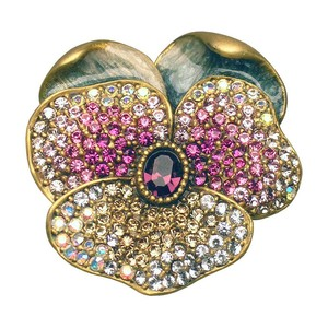 Jay Strongwater Jay Strongwater Suzette Pave Pansy Pin brooch