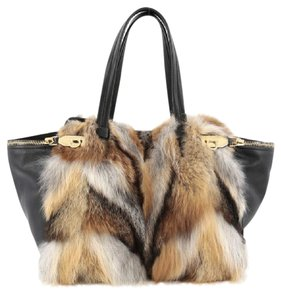 Salvatore Ferragamo Tote in Fox Fur and Leather