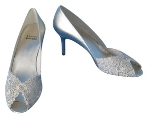 Stuart Weitzman Lace Wedding Swarovski Gold Formal