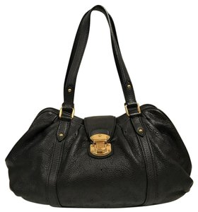 Louis Vuitton Leather Mahina Satchel in Chocolate