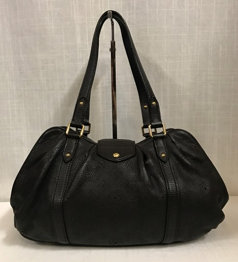 Louis Vuitton Leather Mahina Satchel in Chocolate Image 1