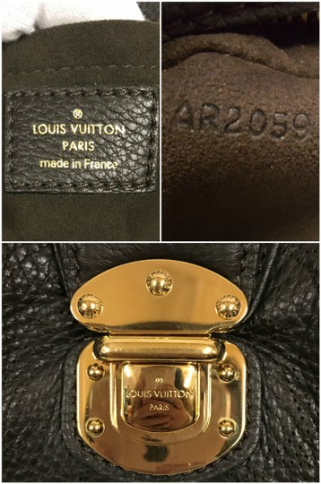 Louis Vuitton Leather Mahina Satchel in Chocolate Image 4
