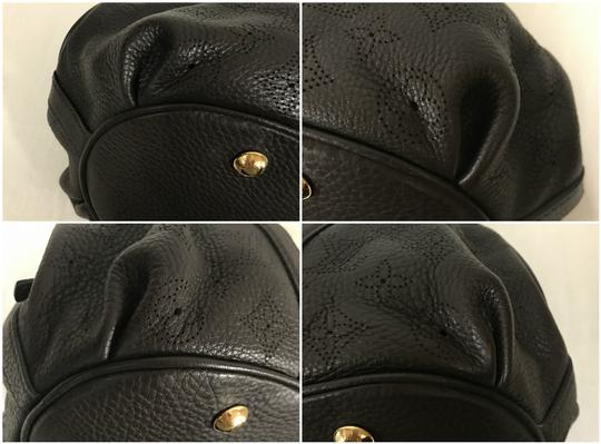 Louis Vuitton Leather Mahina Satchel in Chocolate Image 9