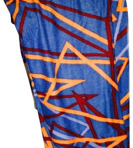 LuLaRoe Blue/gray,orange, maroone, Leggings