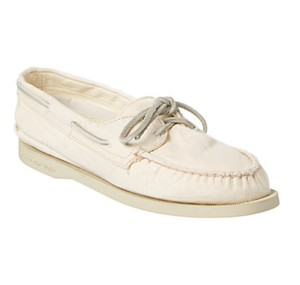 Sperry Preppy Summer Spring Boat White Flats