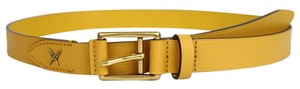 Gucci New Gucci Leather Belt Gold Buckle Feather 95/38 375182 7019