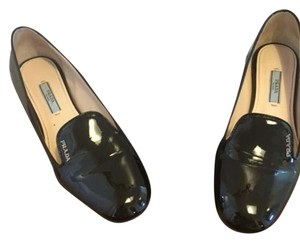 Prada Patent Leather Black Flats