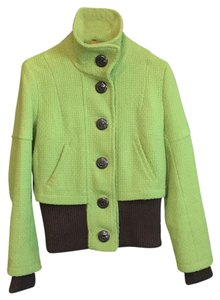 Soia & Kyo lime green with brown trim Jacket