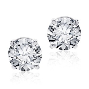 Other .75 Ct Round Brilliant Cut Screwback Basket Stud Earrings Solid 14k WG