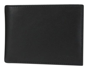 Gucci New Gucci Black Leather Bifold Wallet with Logo 278596 1000